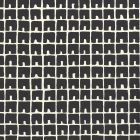 4045-10WP FEZ II Black On Off White Quadrille Wallpaper