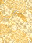 4060M-06WP FLORES II Inca Gold Cream On White Quadrille Wallpaper