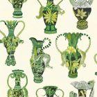 109/12056-CS KHULU VASES Green White Cole & Son Wallpaper
