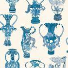 109/12059-CS KHULU VASES Blue White Cole & Son Wallpaper