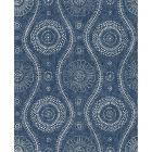 2785-24802 Painterly Indigo Brewster Wallpaper
