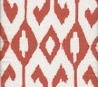 7230-05 AQUA II Rust on White Quadrille Fabric