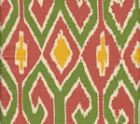 7210-05 AQUARIUS Rust Forest Yellow on Cream Quadrille Fabric