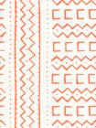 AC980-06 BEAU RIVAGE Orange on Oyster Quadrille Fabric