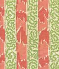 5060-06 BIJOU STRIPE New Shrimp Greens Camel Quadrille Fabric
