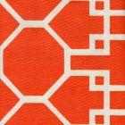 300423F BRIGHTON REVERSE Orange on Tint Quadrille Fabric