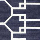 304024F BRIGHTON REVERSE Charcoal on Tint Quadrille Fabric