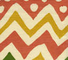 AC103-15 CAP FERRAT Multi Salmon Green Gold on Tint Quadrille Fabric