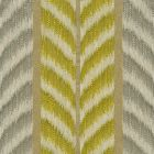 030021T CAROUSEL Gray Chartreuse Quadrille Fabric