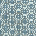 8155-04 CEYLON BATIK REVERSE Medium Blue on Tint Quadrille Fabric
