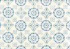 306306CTTN CRAWFORD Multi Blues Quadrille Fabric