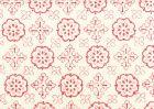 306305CTTN CRAWFORD Multi Reds on White Quadrille Fabric