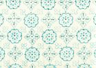 306308CTTN CRAWFORD Multi Turquoise Quadrille Fabric