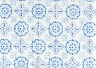 306309CTTN CRAWFORD Royal Blue French Blue Quadrille Fabric