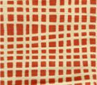 AC403-17 CRISS CROSS Shrimp on Tint Quadrille Fabric