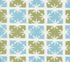 8090-09WSUN GEORGIA SMALL SCALE French Green Windsor Blue on White Quadrille Fabric