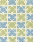 8090-09 GEORGIA SMALL SCALE French Green Windsor Blue on Tint Quadrille Fabric