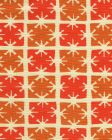8090-08 GEORGIA SMALL SCALE Tangerine Orange on Tint Quadrille Fabric