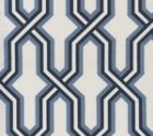 6300-CUST3SUN GORRIVAN FRETWORK Navy Periwinkle Custom Only Quadrille Fabric