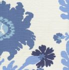 302047FLC HENRIOT FLORAL Blues on White Quadrille Fabric