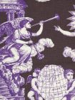 302287F-CU INDEPENDENCE TOILE Purple Brown on Linen Quadrille Fabric