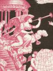 302285F-CU INDEPENDENCE TOILE Rose Brown on Linen Quadrille Fabric