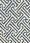 6620-13 JAVA GRANDE Navy on Tint Quadrille Fabric