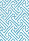 6620-02W JAVA GRANDE New Blue on White Quadrille Fabric