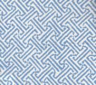 3080-25 JAVA JAVA Aqua on White Linen Cotton Quadrille Fabric