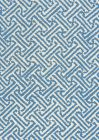 4010-15 JAVA JAVA French Blue on Tinted Linen Cotton Quadrille Fabric