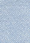 3080-06 JAVA JAVA French Blue on White Linen Quadrille Fabric