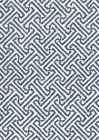 3080-07 JAVA JAVA Navy on White Linen Quadrille Fabric