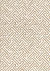 3080-08 JAVA JAVA Taupe on White Linen Quadrille Fabric