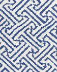 6620-05W JAVA GRANDE Navy on White Quadrille Fabric