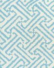 6620-04W JAVA GRANDE Turquoise on White Quadrille Fabric
