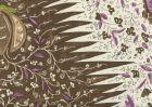 302653F LES INDIENNES MULTICOLOR Multi Brown Taupe Lilac Quadrille Fabric