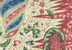 302651F LES INDIENNES MULTICOLOR Red Blue Olive Quadrille Fabric