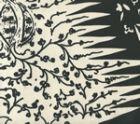 302666F LES INDIENNES Black on Tint Quadrille Fabric