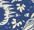302664F LES INDIENNES New Navy on Tint Quadrille Fabric