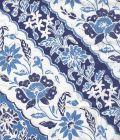 7810C-05 LIM DIAGONAL French Blue Navy on White Cotton Quadrille Fabric