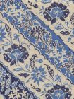 7810T-05 LIM DIAGONAL Blue Navy on Tan Quadrille Fabric