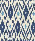 8080-05 LOCKAN Navy Blue on Tint Quadrille Fabric