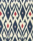8080-09 LOCKAN Navy Red on Tint Quadrille Fabric