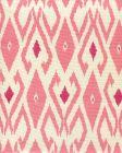 8080-03 LOCKAN Pink Magenta on Tint Quadrille Fabric