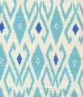 8080-01 LOCKAN Turquoise Royal Blue on Tint Quadrille Fabric