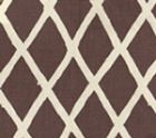 6720-06 LYFORD DIAMOND BLOTCH New Brown on Tint Quadrille Fabric