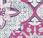 6430-02WSUN NEW BATIK Magenta New Navy on White Quadrille Fabric