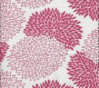 6290-07WSUN NEW CHRYSANTHEMUM Magenta on White Quadrille Fabric