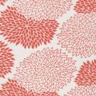 6290-13 NEW CHRYSANTHEMUM Coral on White Quadrille Fabric