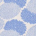 6290-03 NEW CHRYSANTHEMUM French Blue on White Quadrille Fabric
